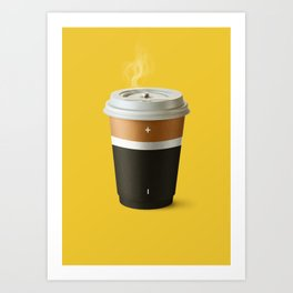 Coffee battery Art Print