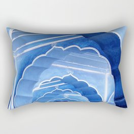 Amber Fort Arches Blue Mood Rectangular Pillow