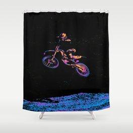 AIR TIME - Motocross Sports Art Shower Curtain