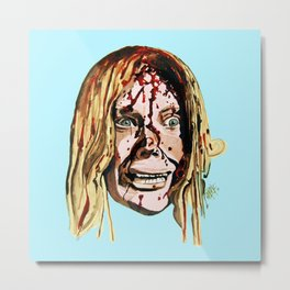 Sissy Spacek AKA Stephen King's 'Carrie' in Blue. Metal Print