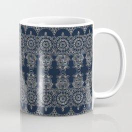 Silvery Striped Doodle Coffee Mug