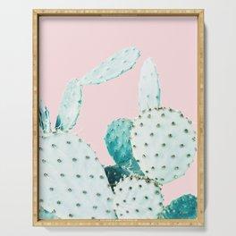 Cactus, Plant, Cacti, Nature, Pastel, Art, Scandinavian, Wall art Print Serving Tray