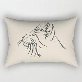 Wishful Whiskers Cat Rectangular Pillow
