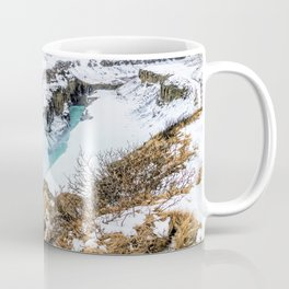 Gulfoss Iceland in Winter Coffee Mug