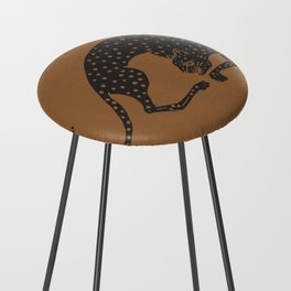 Blockprint Cheetah Counter Stool