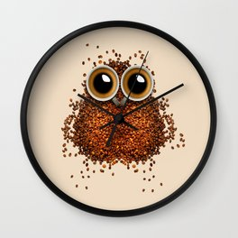 Coffe Owl 777 Wall Clock