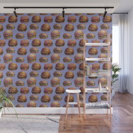 purple burger Wall Mural