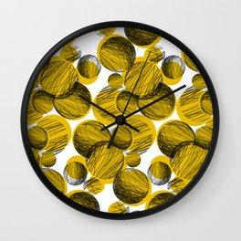 Squiggle Circle Repeat [yellow] Wall Clock