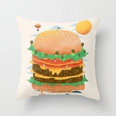 Burgerland Throw Pillow