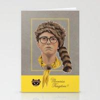 moonrise kingdom Stationery Cards featuring Moonrise Kingdom by Soren Barton