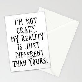 I'm not crazy - Alice in Wonderland Stationery Cards