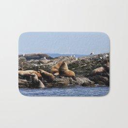 Stellar Sea Lions Bath Mat