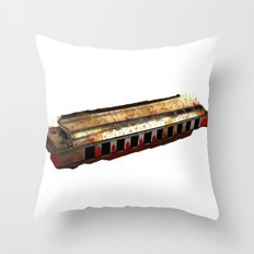Harmonica Throw Pillow