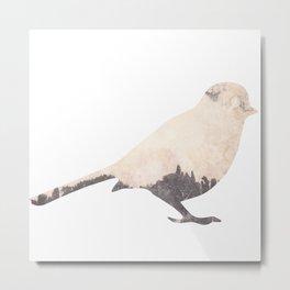 pink sky bird with trees Metal Print