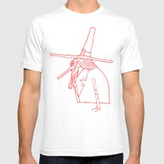 Happy Pilgrim White SMALL Mens Fitted Tee