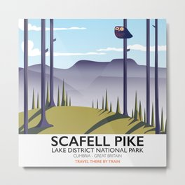Scafell Pike Lake District National Park Metal Print