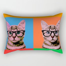 Cat in Four Colors Rectangular Pillow