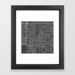 Chandler Map, USA - Gray Framed Art Print