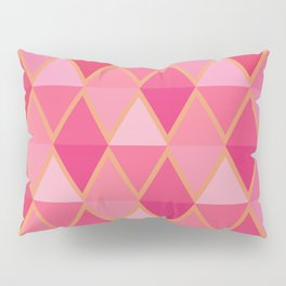 Pink and Gold Pillow Sham