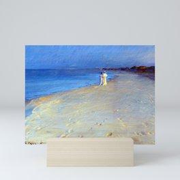 Peder Severin Krøyer Summer Evening at the South Beach, Skagen Mini Art Print