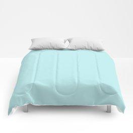 Pastel Turquoise Blue Comforters