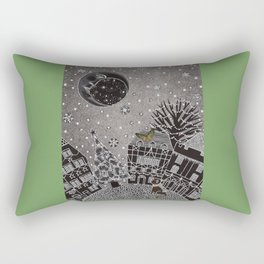 'Twas a Moonlit Winter Night Rectangular Pillow