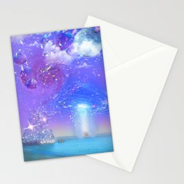 Coromandel New Zealand in Vaporwave Stationery Cards