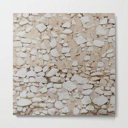 Stone Wall Pattern Metal Print