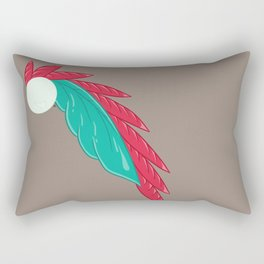 Feather Leaves #4 Rectangular Pillow
