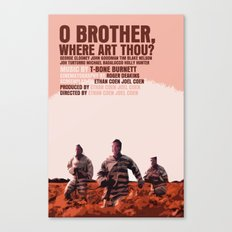 O Brother, Where Art Thou Movie Poster  Canvas Print
