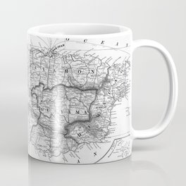 Vintage Map of Puerto Rico (1901) BW Coffee Mug