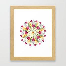 Bali Inspired Nature Mandala Framed Art Print