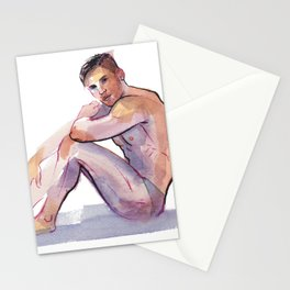 MAX, Semi-Nude Male by Frank-Joseph Stationery Cards
