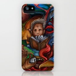"""Within 2 Worlds"", A Painting by Landon Huber iPhone Case"