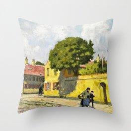 Paul Gustav Fischer - View From Nyboder - Digital Remastered Edition Throw Pillow