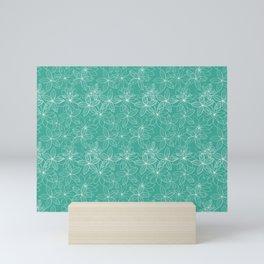 Floral Freeze Mint Mini Art Print