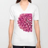 dahlia V-neck T-shirts featuring dahlia by alanzhu
