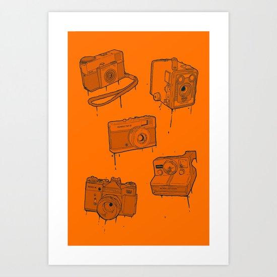 CAMERA SET Art Print