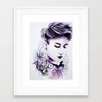 little prince Framed Art Prints featuring Little Prince by Kamiira Maria