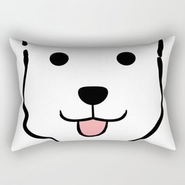 Malachi the Huskimo Dog Rectangular Pillow