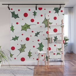 Christmas holly 1 Wall Mural