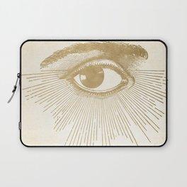 I See You. Vintage Gold Antique Paper Laptop Sleeve