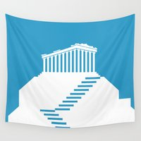 greece Wall Tapestries featuring GREECE by Marcus Wild