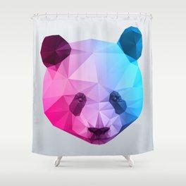 Polygon Panda Bear Shower Curtain