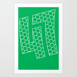 47 hex pattern Art Print