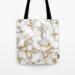 Gold Speckled Marble Tote Bag