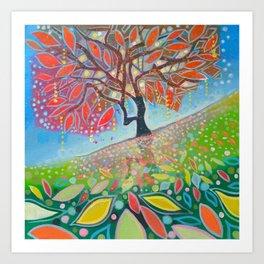 Glowing Tree Art Print