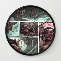 conan Wall Clocks featuring Conan by Logan  Faerber