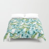 blossom Duvet Covers featuring Blossom by Julia Badeeva