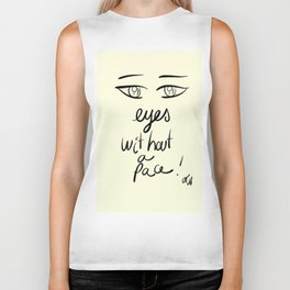 Minima Art Eyes Without a Face Biker Tank
